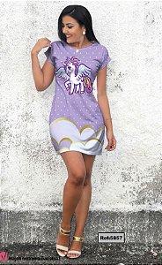 T-Shirt - Vestido, Adulto - Infantil - Feminino - Tal Mãe Tal Filha Cód. 5857