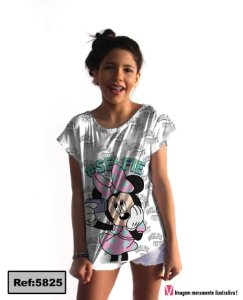T-Shirt modelo Babylook Cód. 5825