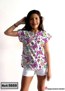T-Shirt modelo Babylook Cód. 5669