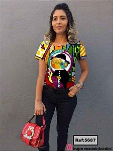 T-Shirt - Vestido, Adulto - Infantil - Feminino - Tal Mãe Tal Filha Cód. 5687