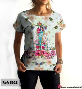 T-Shirt - Vestido, Adulto - Infantil - Feminino - Tal Mãe Tal Filha Cód. 5926