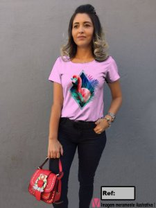 T-Shirt modelo Babylook Cód.7082