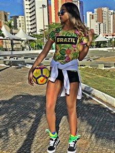 T-Shirt modelo Babylook Cód. 7237  - Copa 2018