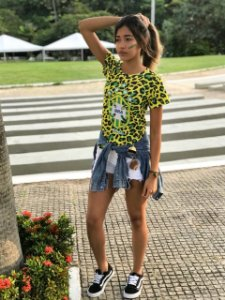 T-Shirt modelo Babylook Cód. 7239 - Copa 2018