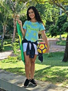 T-Shirt modelo Babylook Cód. 7257 - Copa 2018