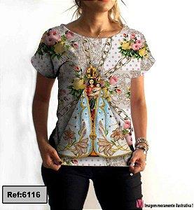 T-Shirt modelo Babylook Cód. 6116