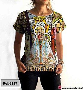 T-Shirt modelo Babylook Cód. 6117