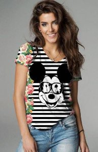 T-Shirt modelo Babylook Cód.7326