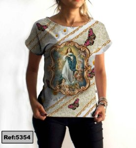 T-Shirt modelo Babylook Cód.5354