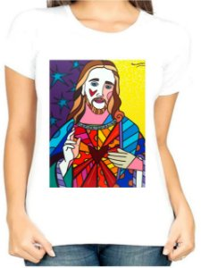 T-Shirt Atacado CORACAO DE JESUS - Adulta - Várias cores de tecido