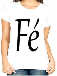 T-Shirt Atacado FÉ - Adulta - Várias cores de tecido