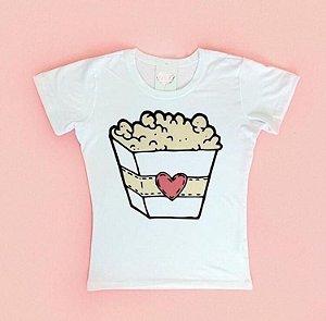 T-Shirt Atacado POP CORN - Adulto - Várias cores de tecido