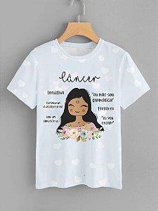 Tshirt Feminina Atacado CANCER - SIGNO