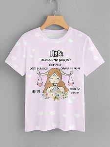 Tshirt Feminina Atacado LIBRA  - SIGNO