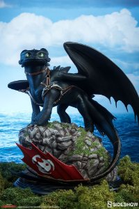 How to train your Dragon : Toothless Statue by Sideshow Collectibles