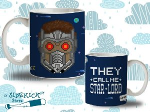 "Caneca ""They call me Star Lord"" 325ml"