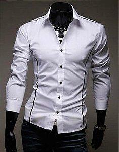 Camisa Slim Fit Social MOD J Devivo BRANCA