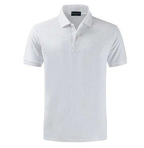 Camiseta Polo Spring Slim Fit  Manga Curta - BRANCA