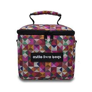 Bolsa Térmica Quadrados Coloridos Mini