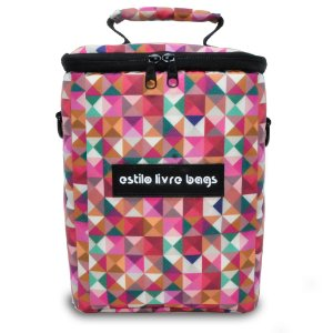 Bolsa Térmica Quadrados Coloridos Pequena
