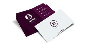 Cartão de Visita - Formato 9x5 cm - Papel Couche 300gr - 4x4 Cores