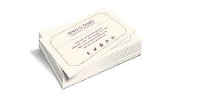 Cartão de Visita - Formato 9x5 cm - Papel Couche 300gr - 4x0 Cores - Laminação Fosca