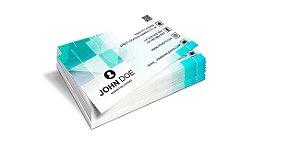 Cartão de Visita - Formato 9x5 cm - Papel Couche 300gr - 4x0 Cores - Verniz Reserva