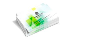 Cartão de Visita - Formato 9x5 cm - Papel Couche 300gr - 4x0 Cores - Verniz Total