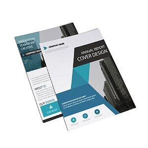 Flyer Panfleto - Formato 10x15 cm - Papel Couche 150gr - 4x4 Cores
