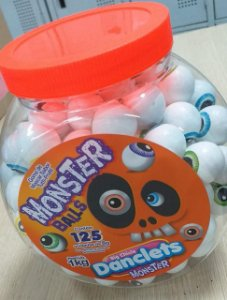 CHICLE DANCLETS BIG BALL PT/125 MONSTERS