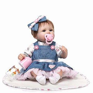 Bebê Reborn Resembling Laura - 55cm