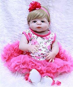 Bebê Reborn Resembling  Rebeca com roupinha de tutu