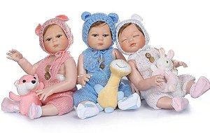 Bebê Reborn Resembling Trigêmeos – Isis, Guilherme e Antonella