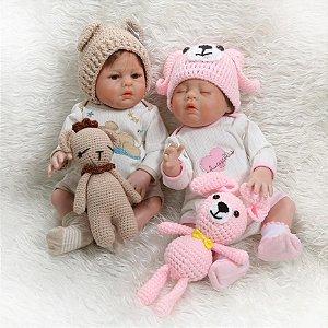 Bebês Reborn Gêmeos Aninha e Alisson