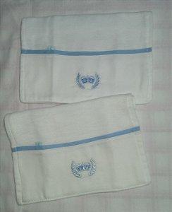 Toalha de Boca com 2 unidades - Coroa Azul