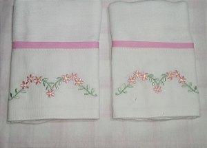 Toalha de Boca com 2 unidades - Flores