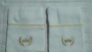 Toalha de Boca com 2 unidades - Coroa Bege