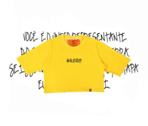 Cropped SKNDY RESPECT ALL YELLOW