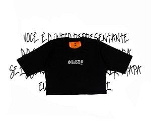 Cropped SKNDY RESPECT ALL BLACK