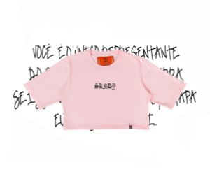 Cropped SKNDY RESPECT ALL PINK