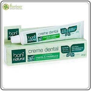 Creme dental Natural sem flúor e Vegano Boni 90g
