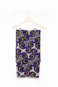 Turbante em tecido africano - Catumbela Roxo