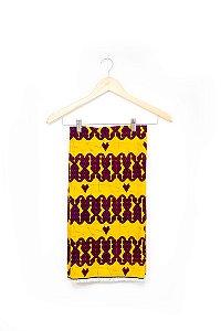 Turbante em tecido africano - Catumbela Amarelo