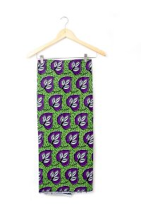 Turbante em tecido africano - Catumbela verde