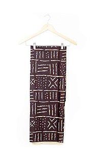 Turbante em tecido africano - Catumbela Bogolafini Marrom