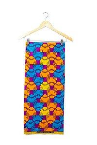 Turbante em tecido africano - Catumbela Colorido