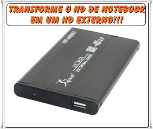 Case Externa HD 2,5 SATA USB = KNUP