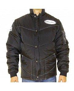 Jaqueta de Frio em Nylon - Refletiva Preta Califórnia