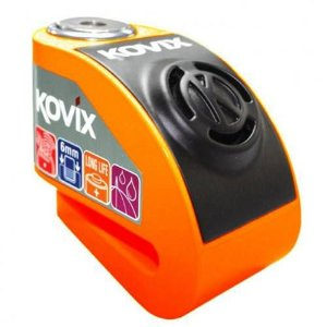 Trava de Disco com Alarme Kovix KD6 - Laranja