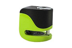 Trava de Disco com Alarme Kovix Mini KS6 - Verde Limão